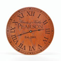 """Personalized Carved Wood Clock 13"""", 16"""", or 20"""""""