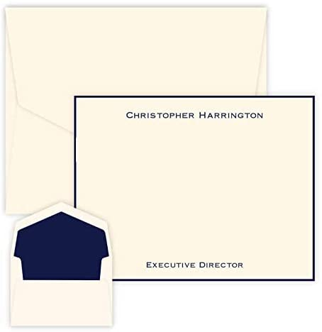 Professional Personalized Flat Cards - Raised Ink Stationery