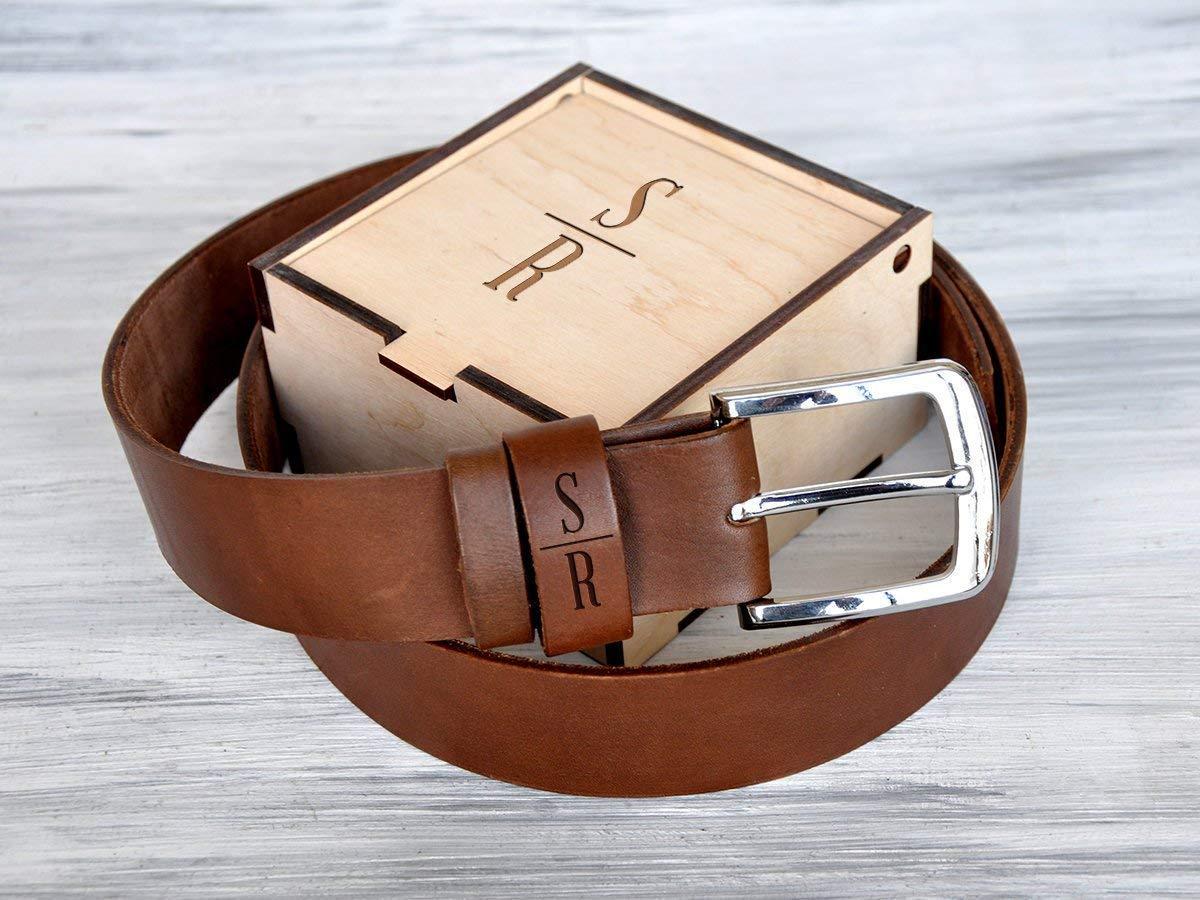Mens Personalized Leather Belt Handmade Christmas Gift for Men for Husband Custom Leather Belt for Men Fathers Day Gift Leather Anniversary Gifts for Him Gift for Dad Black Brown Leather Belts