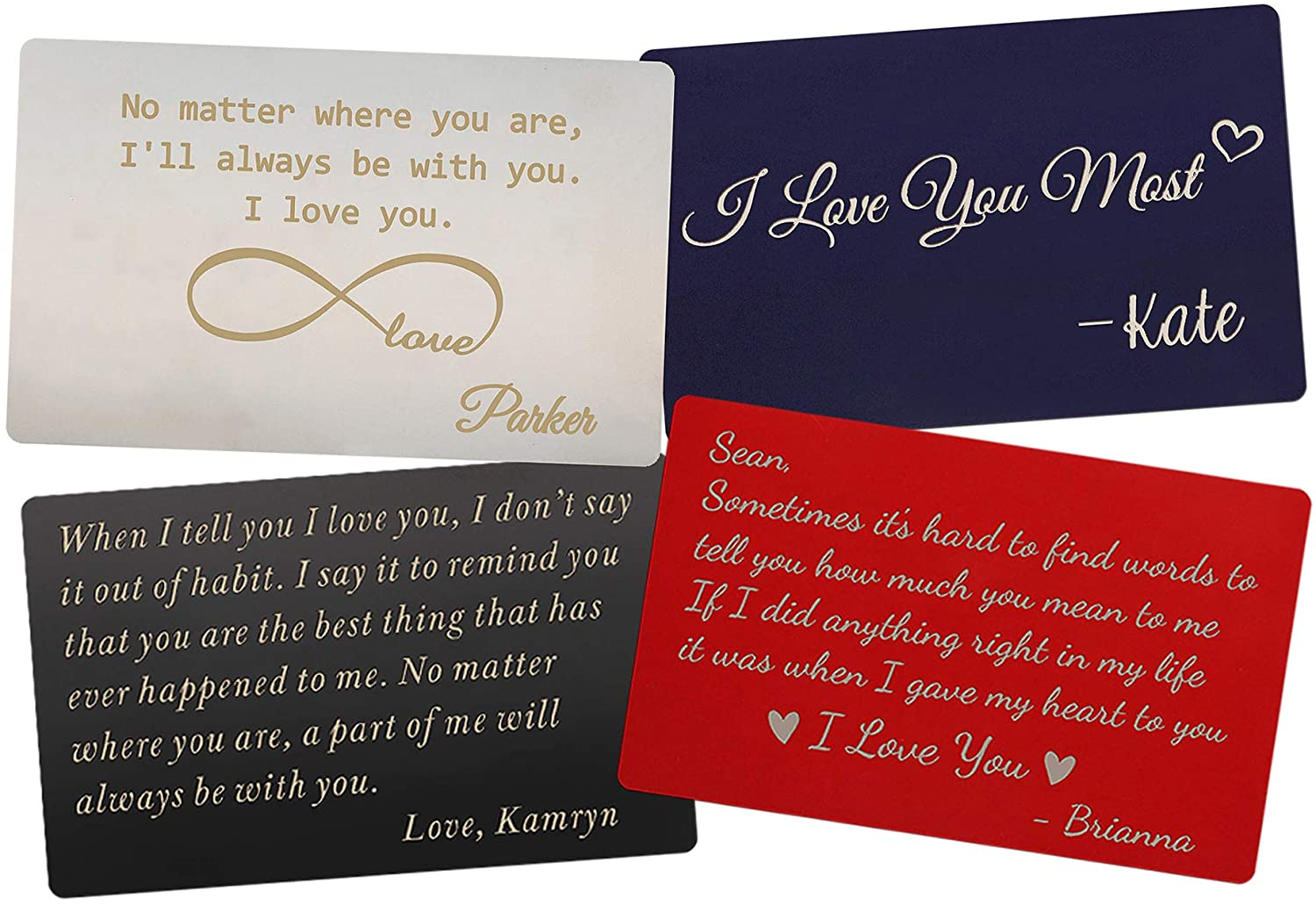 Personalized Wallet Card - The Perfect Engraved Anniversary Gifts for Men and Woman, Engraved Wallet Inserts, Metal Wallet Card, Mini Love Note, Deployment Gifts, Boyfriend, Husband Gifts from Wife