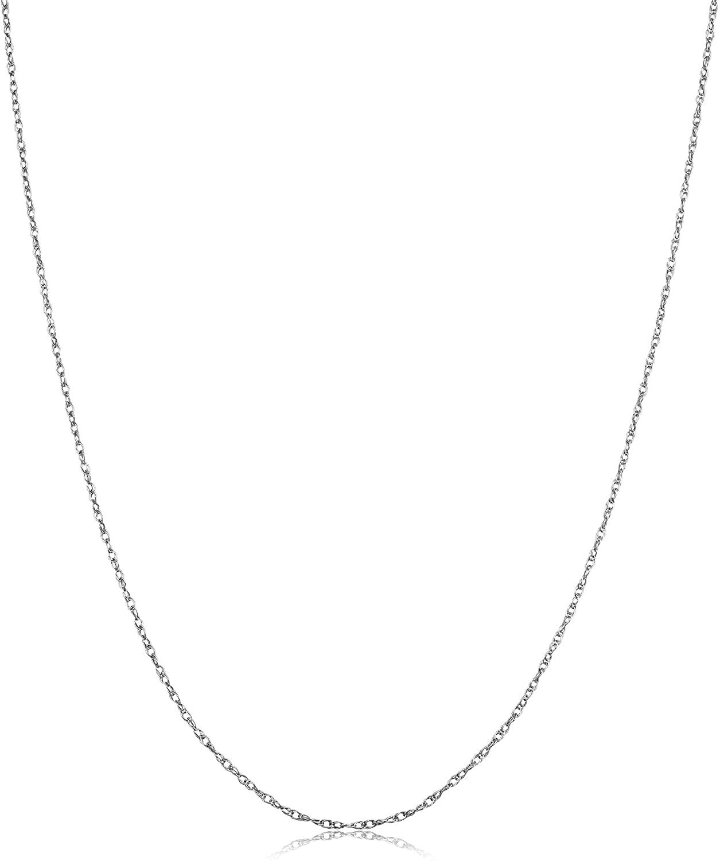 Kooljewelry Platinum 950 Light Rope Chain Necklace (0.9 mm, 20 inch)