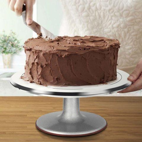 Kootek Aluminium Alloy Revolving Cake Stand 12 Inch Rotating Cake Turntable for Cake, Cupcake Decorating Supplies