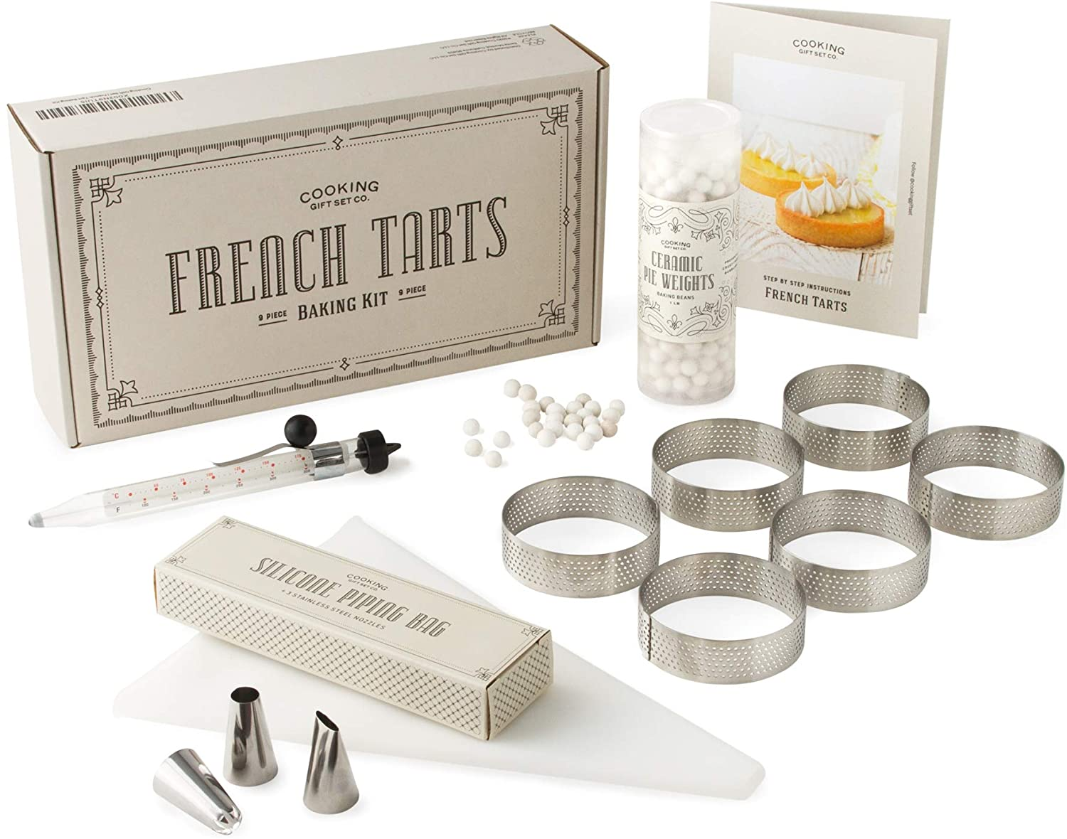 Cooking Gift Set Co.   French Tart Baking Kit   French Pastry Made Simple with Step by Step Instructions   Gifts for Bakers