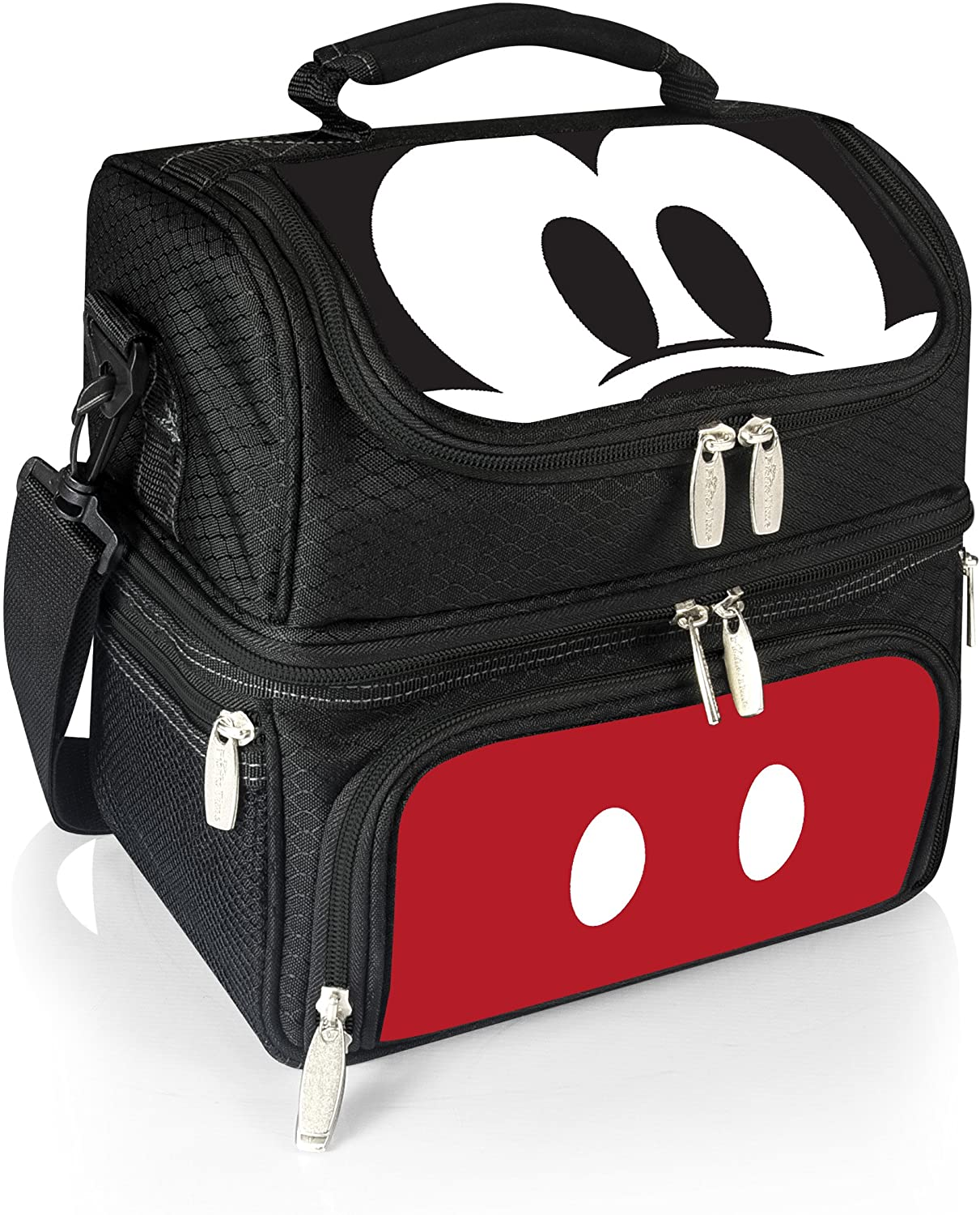 Picnic Time Pranzo Insulated Lunch Tote, 12 Inch, Mickey Mouse/Black