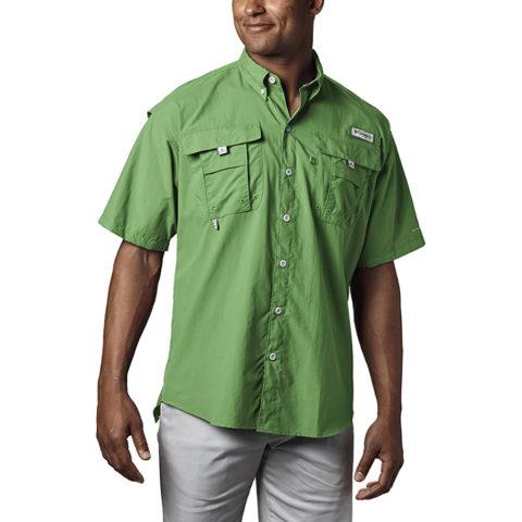 Columbia Men's PFG Bahama II Short Sleeve Shirt , Clean Green, X-Small