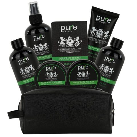 Bath Spa Gift Baskets for Men. Essential Oil Deluxe Mens Gift Set. Best Holiday Gift, Care Package for Men, Husband, Boyfriend & Dad. Mens Spa Kit makes best Relaxation Gifts for Men!